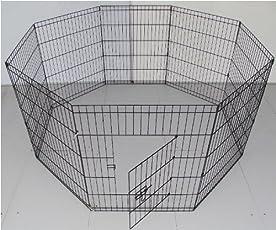 BUNNY BUSINESS 8panel box per i conigli/Guineas/cani e gatti, piccolo, nero
