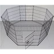 BUNNY BUSINESS 8 Panel Playpen Suitable for Rabbits/Guineas/Dogs and Cats, Small, Silver