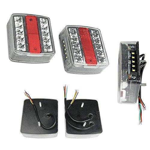 KDS 2 x E4 LED Anhänger Rücklicht Rückleuchten für Anhänger Licht Leuchte Anhängerbeleuchtung