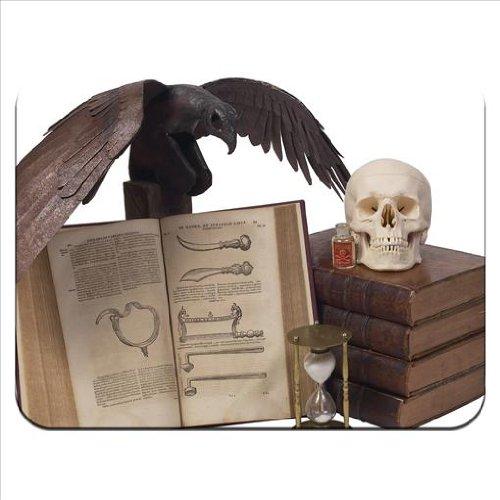 Halloween Requisiten-Set, gruselige Bücher / Schädel / Krähe / Gift / Mauspad, aus dickem Gummi, weiche ()
