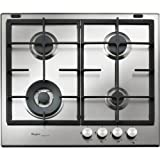 Whirlpool GMF 6422/IXL Integrado Encimera de gas Acero inoxidable hobs - Placa (Integrado, Encimera...