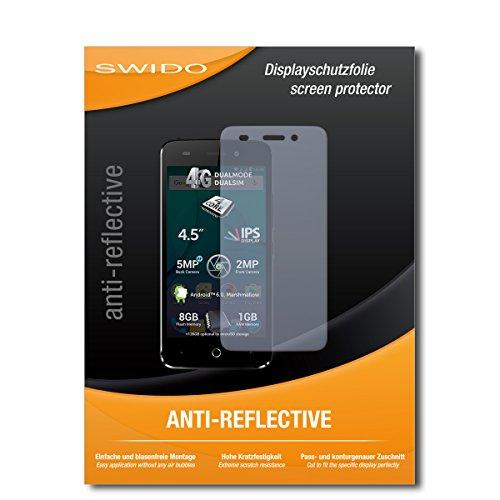 SWIDO Bildschirmschutz für Allview P5 Lite [4 Stück] Anti-Reflex MATT Entspiegelnd, Hoher Härtegrad, Schutz vor Kratzer/Glasfolie, Schutzfolie, Bildschirmschutzfolie, Panzerglas Folie
