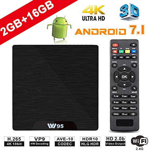 Android TV Box - VIDEN W2 Newest Android 7 1 Smart TV