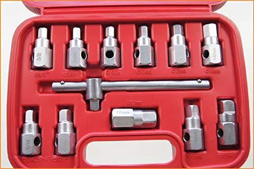 8b31fe9da884 Merry Tools HK 12PC Öl Abfluss Ölwanne Schlüssel Steckschlüssel-Satz -  Getriebe Und Axel Entfernung Schraubenschlüssel 420392