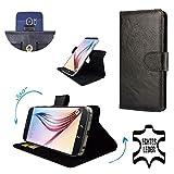 Premium Echtleder Smartphone Schutzhülle mit Dreh und