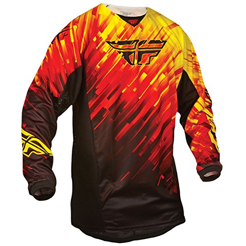 Fly 2015 Motocross / MTB Jersey - Kinetic Glitch rot-schwarz-gelb: Größe Jersey: S