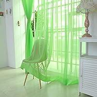 STRIR 1 unids tul blanco puro puertas y ventanas cortinas bufandas cortinas (200cm x 100cm) (C)