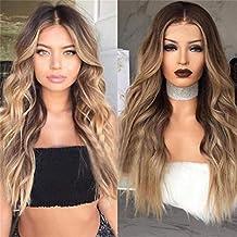 WSC Postizos Pelucas peluca de pelo de fibra química de onda larga pelucas de cabello largo