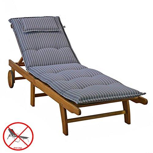 Auflagen für Liegen Kettler Dessin 709 in grau 195x60x8 cm Liegenauflagen ohne Liege