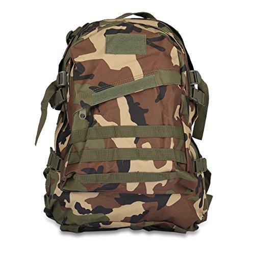 Imagen de 40l 3d  ataque bolsa de táctica camuflaje aire libre tela de nylon, correa ajustable , viaje, deporte, militar, ejercicio, cámping, grande  camuflaje del bosque