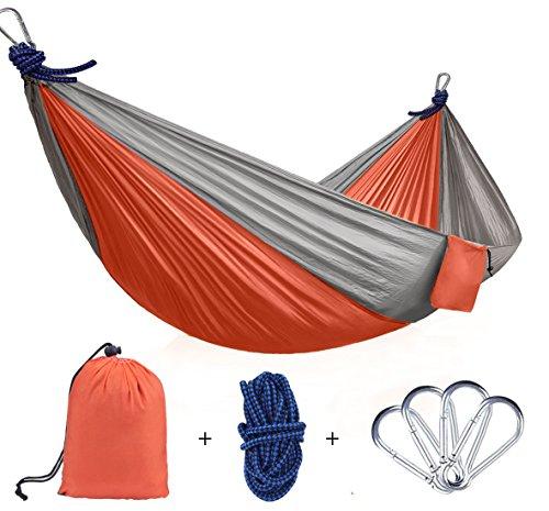 Hängematte, ViViSun Tragbaren Parachute Hängematte Picknickdecke Tuchhängematte Doppel-Hängematte bis 200 kg