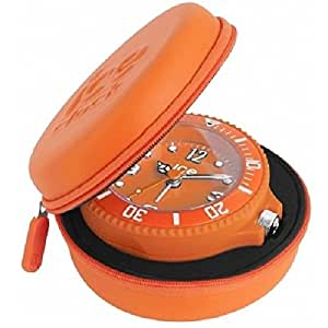 ICE-Watch - ITAF.OE - - Réveil Mixte - Quartz Analogique - Cadran Orange - Bracelet
