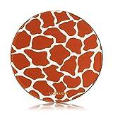 Gaming Mauspad(250 x 250 x 3 mm) ,Lizimandu Silent Designer Runde Round Mousemat /Standard Size mit Anti-Rutsch-Leder-Runde Double Sided Durchmesser 25 cm für alle gängigen Mouse-Typen(Giraffe Haut/Giraffe Skin)