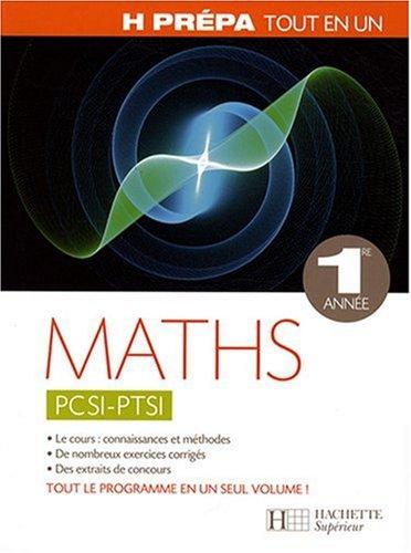 Maths PCSI-PTSI 1e année