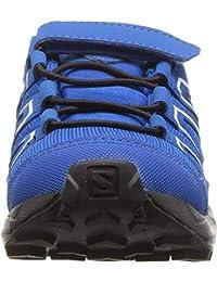 Salomon Speedcross CSWP K, Zapatillas de Trail Running Unisex Niños, Azul/Negro (Indigo Bunting/Sky Diver/White), 30 EU