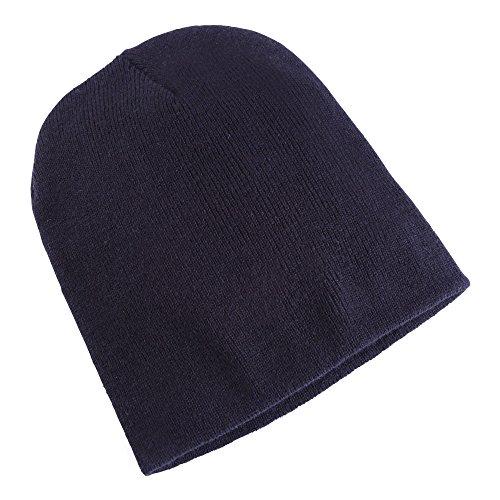 Yupoong Flexfit Unisex Wintermütze / Beanie / Strickmütze (One Size) (Marineblau)