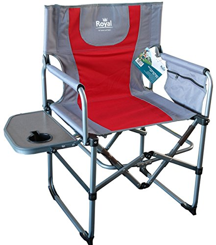 Royal Compact Director's Camping Chair | Red/Silver
