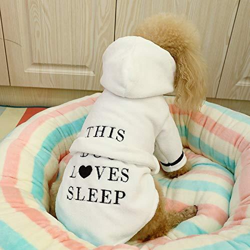 Teddybär Katzen Für Kostüm - YITANG Haustierkleidung Teddybären Bulldogge Kostüme Katzen Welpen Milch Hunde Hund Bademantel Bademantel (Color : Dog Bathrobe, Size : XS)