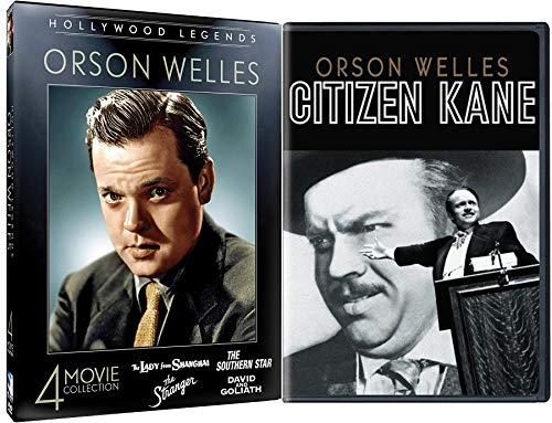 Rosebud & The Magician DVD Collection Orson Welles Lady from Shanghai / Southern Star / Stranger / David and Goliath + Citizen Kane 5 Classics Movie Hollywood Legends Bundle