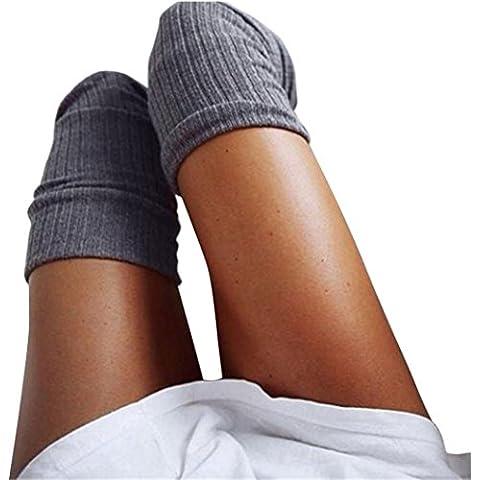 FEITONG Mujer Invierno De punto Encima rodilla Largo Botas Muslo Calentar Calcetines Polainas