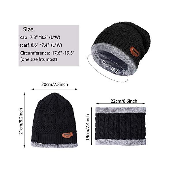 Aibrou Cappello Uomo Invernali【Guanti Possono Essere Utilizzati su Schermi Mobili e Tablet】 3 in 1 Cappello Sciarpa… 5 spesavip