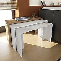 Tavolini da Caffe triplo set Cango in Bianco/Cordoba 3405