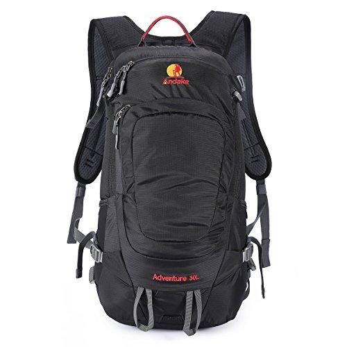 Andake Rucksack, Ultralight & Durable 30L Daypack mit Regenschutzanzug als Wanderrucksack & Laptop Rucksack, am besten für das tägliche Leben, Outdoor Camping, Wandern und Reisen (Black) (Laptop-rucksack Beste)