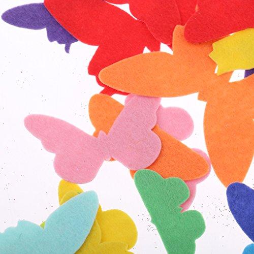 Sharplace 150er Set Filz Bastelfilz Applikation Sticker Stoff Aufkleber Verschönerungen für Kinder DIY Handwerk