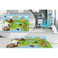 Pirate Kids Bedroom Floor Rug Boys Soft Play MATS Carpets Non-Slip Washable 80 x 120 cm
