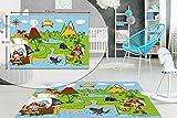 Pirat Kinder Schlafzimmer Boden Teppich Jungen Soft Play Mats Teppiche rutschfest waschbar 80x 120cm
