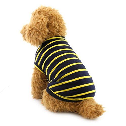 selmai Haustier Kleidung für kleine Hunde Baumwolle Streifen Weste T-shirt Doggy Shirts Chihuahua Kleidung Pet Kostüm