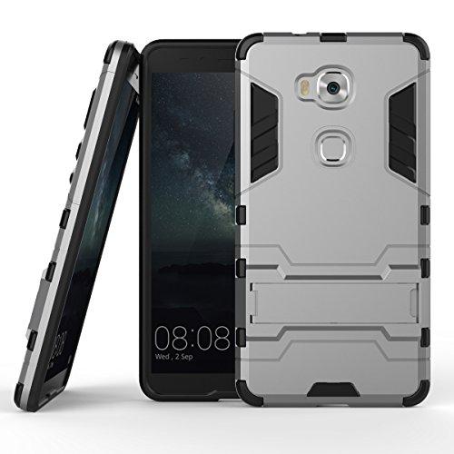 SsHhUu Huawei Honor 5X Hülle, Huawei X5 Hülle, Stoßsichere Dual Layer Hybrid Tasche Schutzhülle mit Ständer für Huawei X5 / Huawei Honor 5X 2015 (5.5