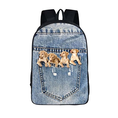 Weiblicher Katzenwelpen-Kindercowboy-Rucksack
