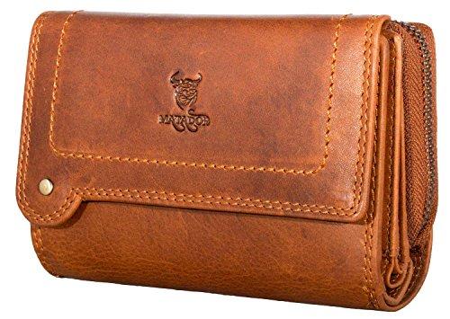 XXL Damen Geldbörse mit RFID Schutz Rindleder Portemonnaie Geldbeutel Geldtasche