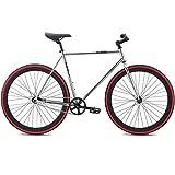 700c Se Bikes Draft Fixie Singlespeed Fixed Gear Bike für Damen ca 155 - 175 cm, Rahmengrösse:52 cm, Farbe:silber