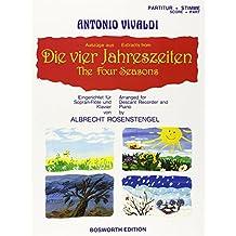 Die Vier Jahreszeiten. Eingerichtet für Sopran-Flöte und Klavier