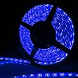 Allbuymall Striscia LED Impermeabile IP65 5M RGB 300 LEDs 3528 SMD LED Strip DC 12V, Blu