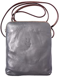 FLORENCE LEATHER MARKET Unisex Tracollina Mia GM in vera morbida pelle di vitello - 8610 - Borse in pelle