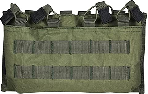 VIPER QUAD QUICK RELEASE MAG POUCH GREEN M4 M16 MAG POUCH MOLLE AIRSOFT