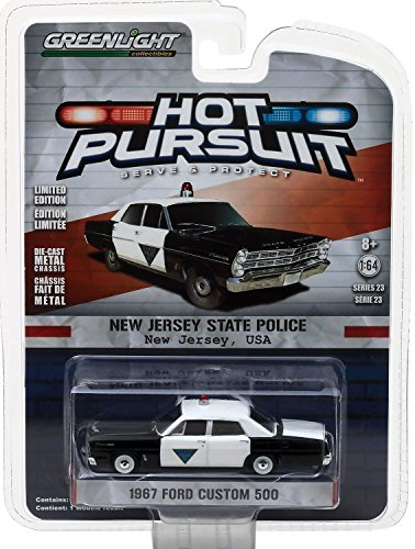1967 Ford Custom 500 Galaxie New Jersey State POLICE - Greenlight 1:64 Galaxy Jersey