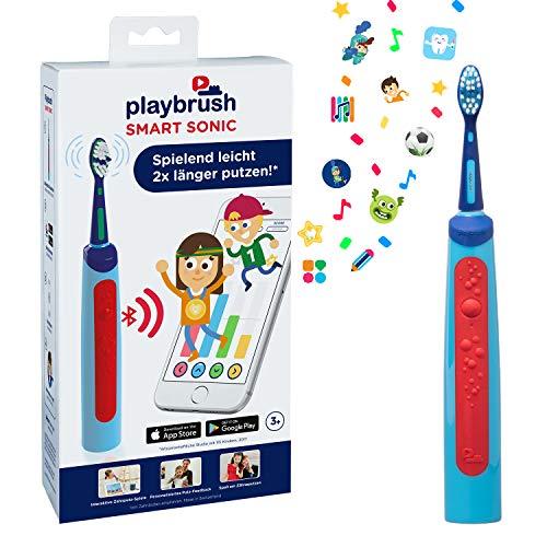 Playbrush Smart Sonic, smarte elektrische Schallzahnbürste für Kinder mit interaktiver Spiele-App (Sonic Geschenke)