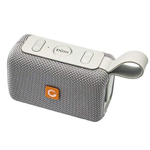 Bluetooth Lautsprecher, DOSS E-Go Bluetooth Lautsprecher Boxen Soundbox mit besserem Bass Drahtloser Tragbarer IPX6 Wasserdichter Lautsprecherbox für iPad, Tablet und Andere Android Geräte 【Grau】 - Lautsprecher Tragbar Ipad Bluetooth