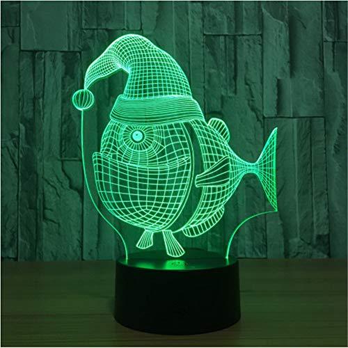 Touch Usb Power 3D Nachtlicht Neuheit Halloween Schreibtischlampe Weihnachtsgeschenk 3D Leuchten Tischlampen