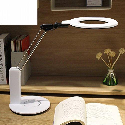 r Augenschutz Schreibtisch Schreibtisch Schüler Sekundarschule Studenten Anti - Myopie Kann Ohne Strobe Touch Lampe Eingestellt Werden,Weiß ()