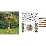 Traditional Wooden Bird Table (1475A) Lovely addition to your garden and protects birds from predators.