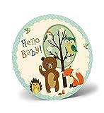 STAND-UP Grußkarte Glückwunschkarte zum Baby Maxi 21x21 cm 77-4010