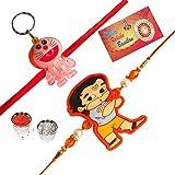 #10: RA- Rock Design Designer Kids Rakhi Combo, Set of 2( Lighting Doreamon and Lord Hanuman)