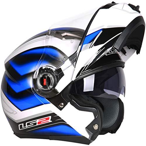 Double Lens Flip Up Motocross Helme Anti Fog Winddicht Off Road Integralhelm Anti Fall Stoßfest Modular Racing Motorradhelm Seasons Universal -