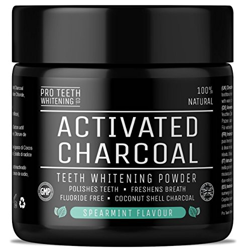 Activated Charcoal Natural Teeth Whitening Powder Spearmint Flavour by Pro Teeth Whitening Co | Manufactured in The UK Test