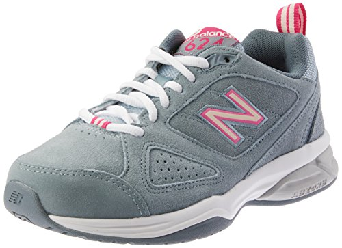New BalanceWX624WB4 - Scarpe Sportive Indoor donna, Blanco - blanco (White/Blue), 36 2/3